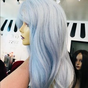 Accessories - Wig pastel blue Baby Blue Wig Lacefront Swisslace